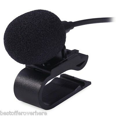 3.5mm Car External Microphone Mic DVD Radio Stereo Player HeadUnit Cable 3m Blac