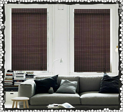 NEW 60 x 210 Bamboo Roman Blind Blinds Blockout Ready Made Mahogany Window Decor