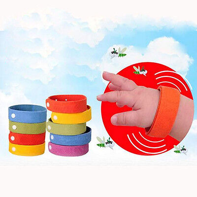 5PCS Anti Mosquito Bug Repellent Wristband Bracelet Insect Buglock Camping Tool