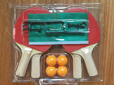 4-Player Family Table Tennis Ping Pong Bat and Net and Post Set with 4 Balls