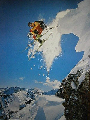 SKIING MOTIVATIONAL INSPIRATIONAL POSTER (61x91cm)  PICTURE PRINT NEW ART