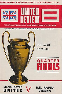 MANCHESTER UNITED v S K RAPID VIENNA ~ EUROPEAN CUP ~ 26 FEBRUARY 1969 (1)
