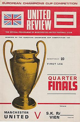 MANCHESTER UNITED v S K RAPID VIENNA ~ EUROPEAN CUP ~ 26 FEBRUARY 1969 (2)