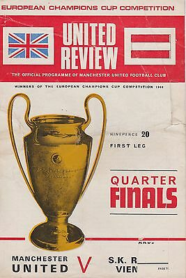 MANCHESTER UNITED v S K RAPID VIENNA ~ EUROPEAN CUP ~ 26 FEBRUARY 1969 (3)