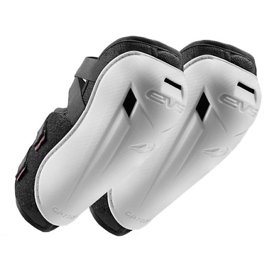EVS Option MX Motocross Elbow Guards - YOUTH - White