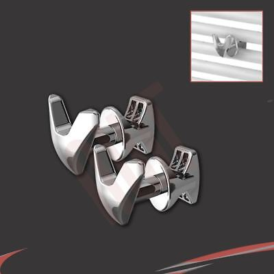 Chrome V Robe Hook (Pair) fix direct to heated towel rails Bathroom Accessories