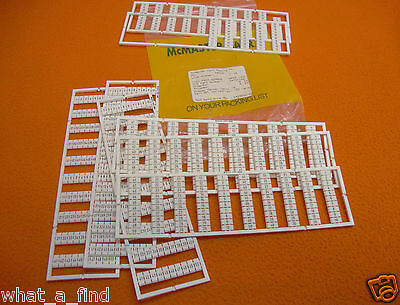 3 each NEW Horizontal & Vertical Rail Terminal block Marker Cards 9473T146