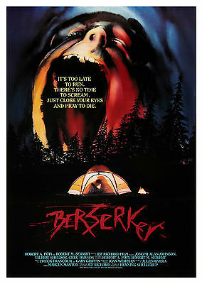 Berserker (1987) - A1/A2 Poster **BUY ANY 2 AND GET 1 FREE OFFER**