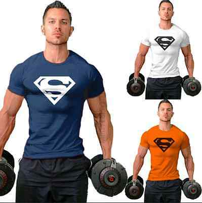 New Superman Series Sport Gym Men T-Shirt Bodybuilding Tee Fittness Tank