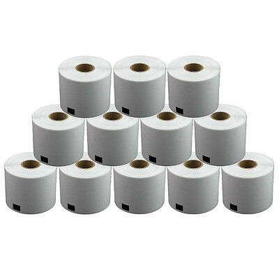 12 REFILL ROLLS DK11202 BROTHER COMPATIBLE SHIPPING LABELS 62x100mm DK 11202
