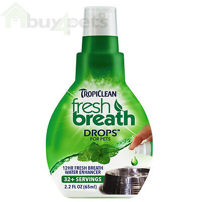 TropiClean Fresh Breath Drops for Dogs and Cats Pet Oral Hygiene