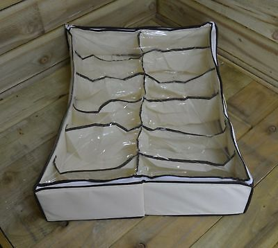 Underbed Footwear Storage bag for upto 6 Pairs Of shoes