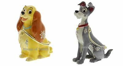 Disney Lady And The Tramp Trinket Gift Box Die Cast Metal Ornament