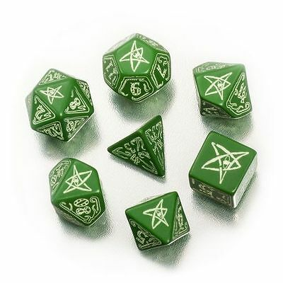 Cthulhu Würfelset Green/Glow-in-the-Dark ( 7 Würfel )