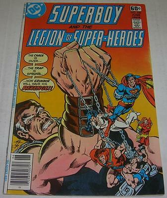 SUPERBOY & LEGION OF SUPER-HEROES #240 (DC Comics 1978) Origin DAWNSTAR (FN)