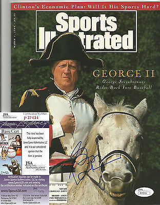 George Steinbrenner Ny Yankees Legend Signed Autograph Si Magazine Jsa Coa Rare