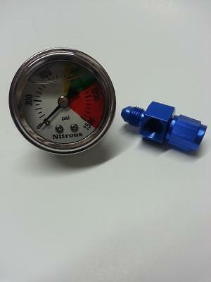 Nitrous Bottle Pressure Gauge with fitting for nos nx express zex