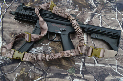 HEAVY DUTY Single Point One Point Sling Tactical Rifle Gun Sling - MARPAT CAMO