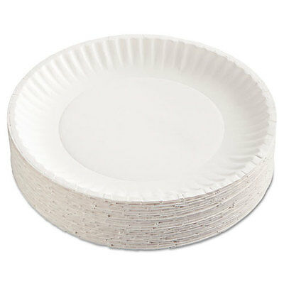 Coated Paper Plates, 9, White, Round