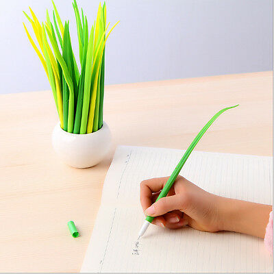 2PC Grass Black Fountain Pen Shapeable Creative Stationery Gift Present Student