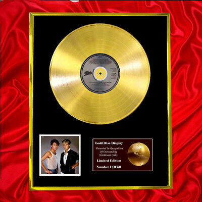 Wham The Final Cd Gold Disc Record Lp Display Free P&p!