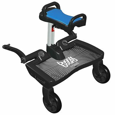 Lascal BuggyBoard Saddle (Blue) - Universal Seat for Pushchairs