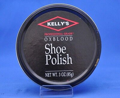 Kelly Professional Grade Leather Shoe, Boot Paste Wax Polish- Oxblood NEW Kellys
