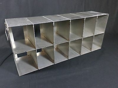 Laboratory SS 12-Section Upright Freezer Rack for 96 384-Well Microtiter Plates