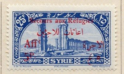 Syria 1926 Secours aux Refugies Fine Mint Hinged 5p. Optd Surcharged 047735