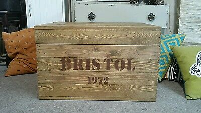 RUSTIC Wooden Trunk Chest Blanket Box Coffee Table Vintage Style TV Stand Storag