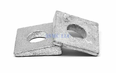 "1/2"" Square Beveled Malleable Washer Malleable Iron Hot Dip Galvanized Pk 25"