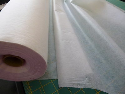 Medium weight iron on Interfacing 2 metres, WHITE,  90cm wide