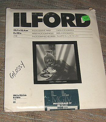 Ilford Multigrade IV RC Deluxe MGD44M Glossy Photo Paper 8 x 10, 25 Sheets