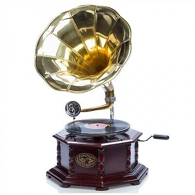 Gramophone horn gramophone for shellac records in the antique style