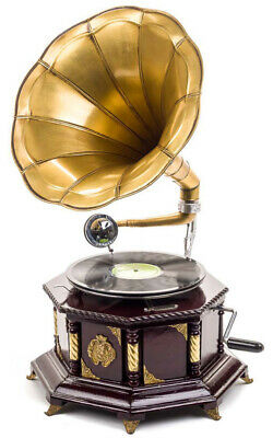 Gramophone, 70cm, horn gramophone, shellac record, gramophone, antique style