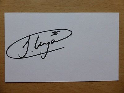 Hand Signed Football Index Cards *****L***** Page 2