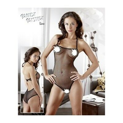 BODY A TUTA NERA maglie larghe sensuale lingerie intimo donna sexy Catsuit