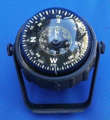 Ycm Nautical Boat/ship Compass In Excellent Condition! Clear Plastic! Nice!