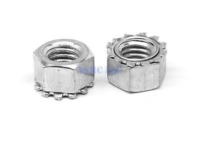 #8-32 KEPS Nut / Star Nut with Ext Tooth Lockwasher Stainless 18-8 Pk 100