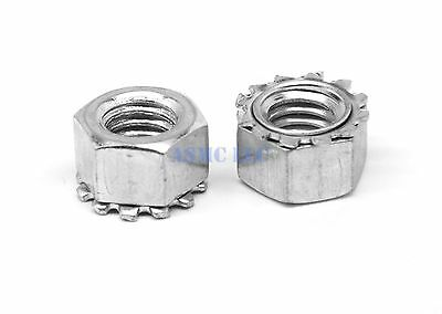 #10-32 Fine KEPS Nut / Star Nut with Ext Tooth Lockwasher Zinc Plated Pk 100