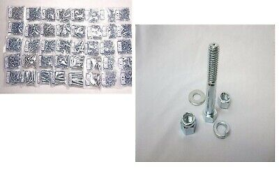 Grade 5 Coarse Thread Bolt Nut & Washer Assortment  6550 Pc W/ Nylon Lock Nuts