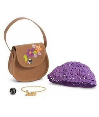 American Girl Julie Classic Accessories New For Doll purse hat necklace coin