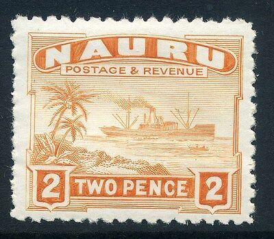 NAURU;  1937-48 early ' Century ' issue fine Mint hinged 2d. value