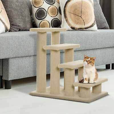 Pet Ramp Stairs Cat Tree Ladder Safety Steps Climbing Frame