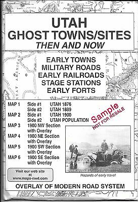 Maps of Utah Ghost Towns, Then and Now, by RN/ML Preston