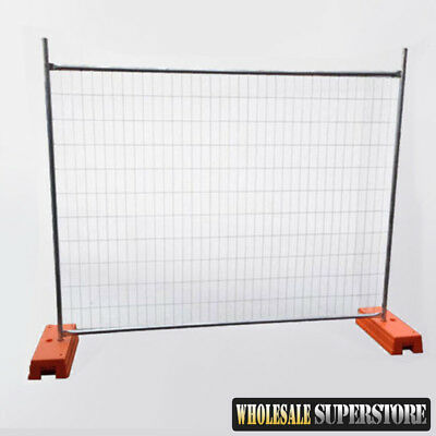 Temporary Fencing Panels - 2400mmW x 2100mmH - HD Mesh Security Fence