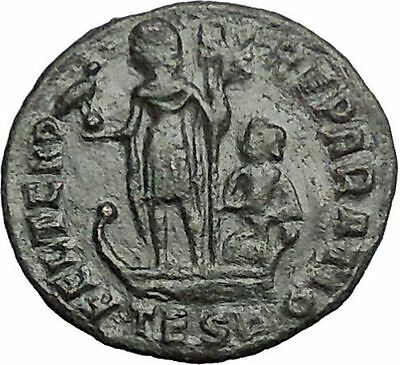 CONSTANTIUS II Constantine the Great son Ancient Roman Coin Galley   i54840