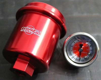 CZRRACING HIGH FLOW WASHABLE FUEL FILTER FOR NISSAN 240SX S13 S14 NEO CHROME