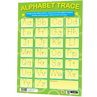 Alphabet Trace Educational Early Learning English Writing Literacy Wall Poster