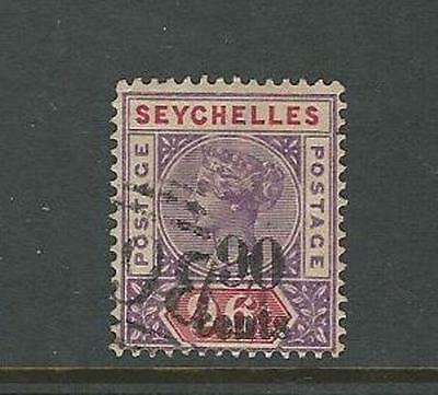 Seychelles: Scott 26 used,XF,overprint, Cat 45$. SY02